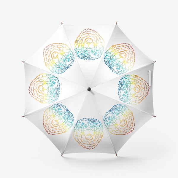 Зонт «Лев в цвете»