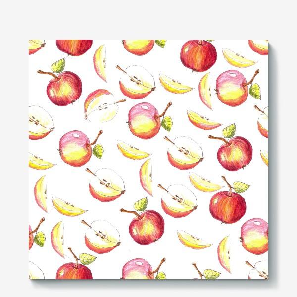 Холст «Яблочный паттерн»