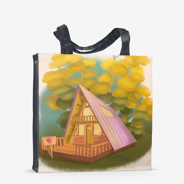 Сумка-шоппер «Дом- это свой маленький мир»