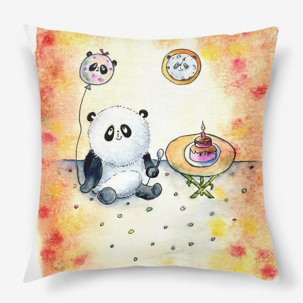 """Подушка «Серия """"Счастливые панды"""" панда именинница»"""