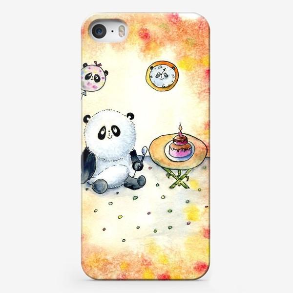 """Чехол iPhone «Серия """"Счастливые панды"""" панда именинница»"""