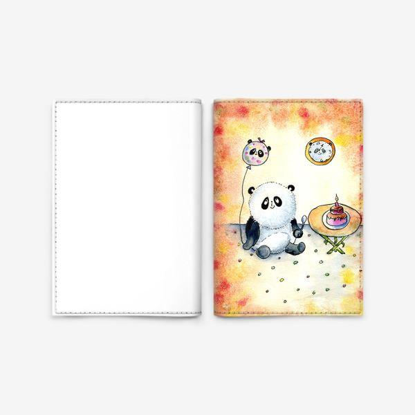 """Обложка для паспорта «Серия """"Счастливые панды"""" панда именинница»"""
