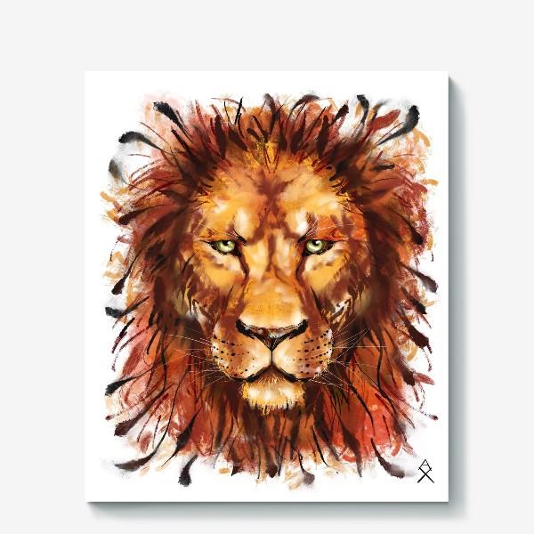 Холст «Лев »