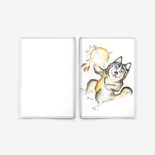 Обложка для паспорта «Собака Хаски шаман»
