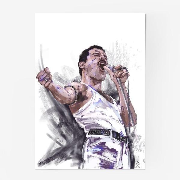 Постер «портрет Фредди Меркьюри»
