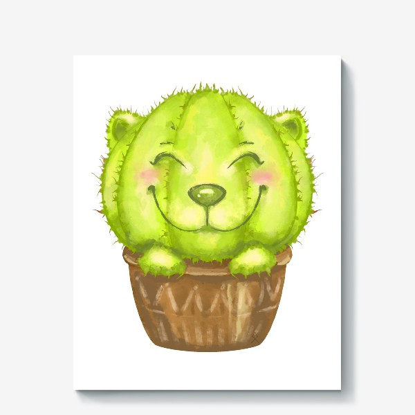 Холст «Кот кактус »