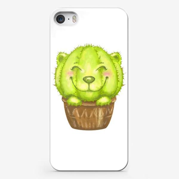 Чехол iPhone «Кот кактус »