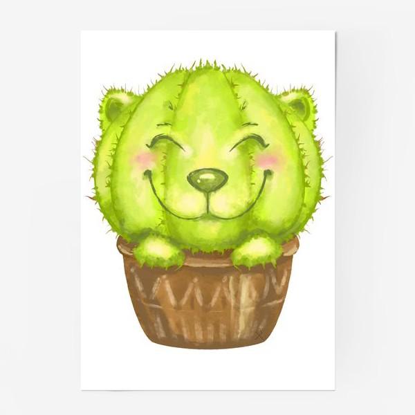 Постер «Кот кактус »