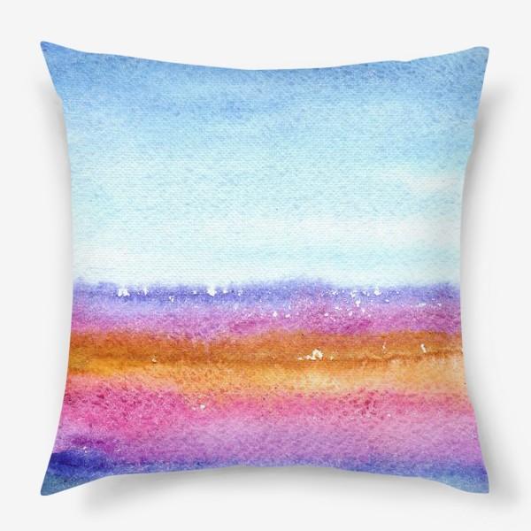 Подушка «Акварельный пейзаж»