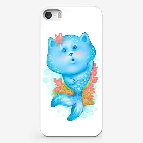 Чехол iPhone «Русалочка котэ »