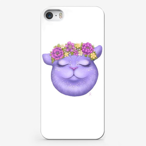 Чехол iPhone «Мечтательная кошка »