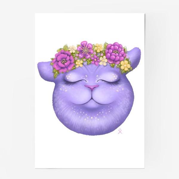 Постер «Мечтательная кошка »