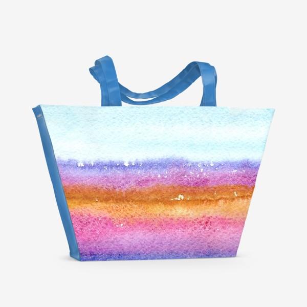 Пляжная сумка «Акварельный пейзаж»