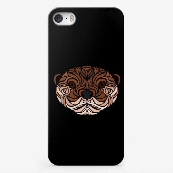 Чехол iPhone «Тотемная Выдра на черном»