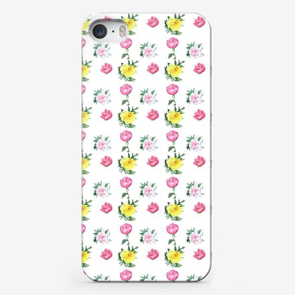Чехол iPhone «Четыре пиона»