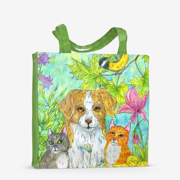 Сумка-шоппер «Щенок и котята»