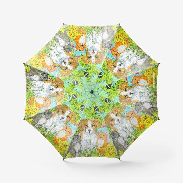 Зонт «Щенок и котята»