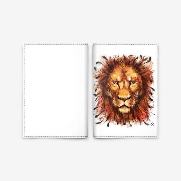 Обложка для паспорта «Лев »