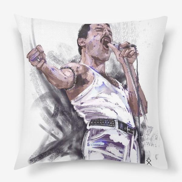 Подушка «портрет Фредди Меркьюри»