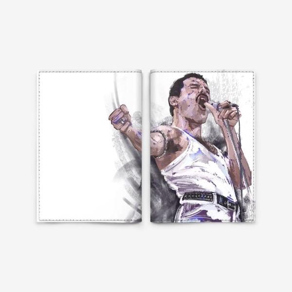 Обложка для паспорта «портрет Фредди Меркьюри»