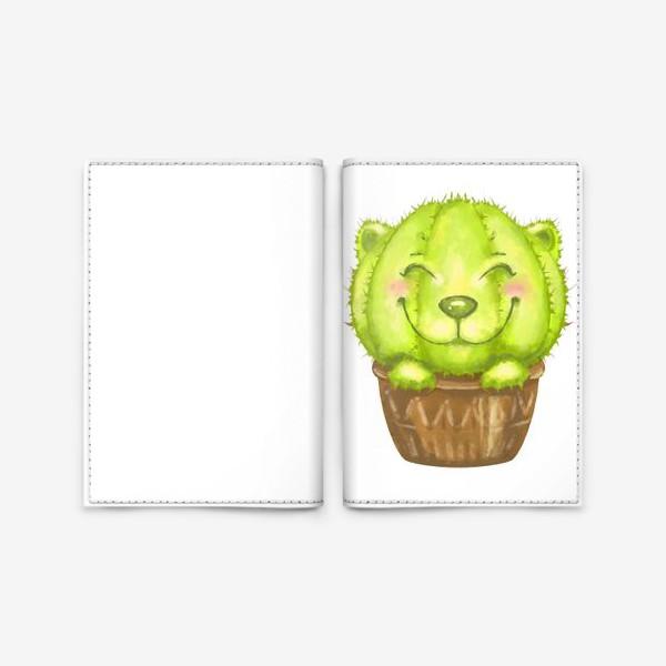 Обложка для паспорта «Кот кактус »