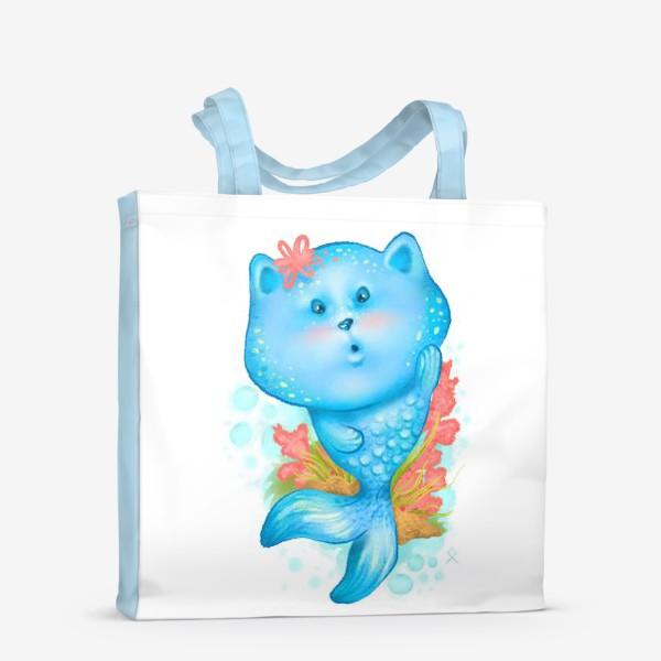 Сумка-шоппер «Русалка кошка »
