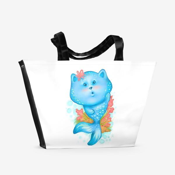 Пляжная сумка «Русалочка котэ »