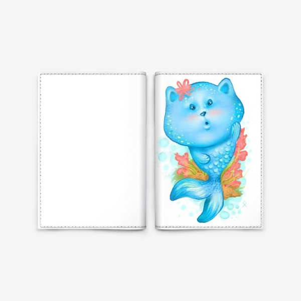 Обложка для паспорта «Русалочка котэ »