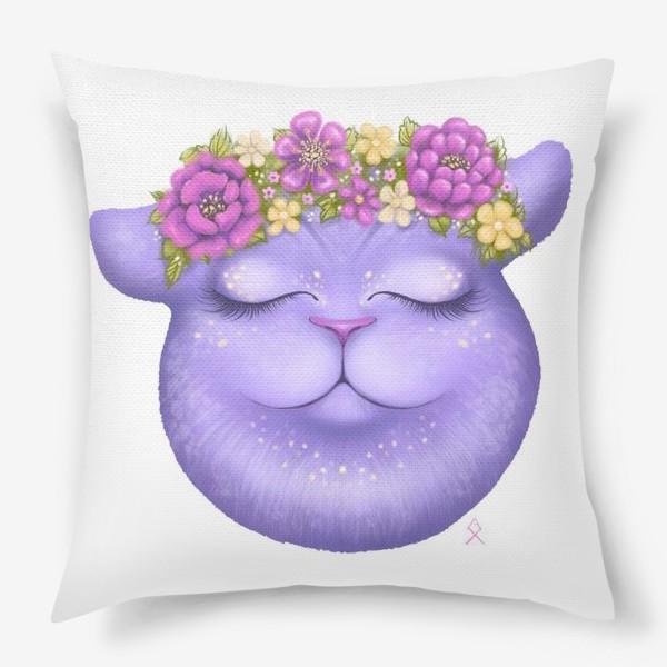 Подушка «Мечтательная кошка »