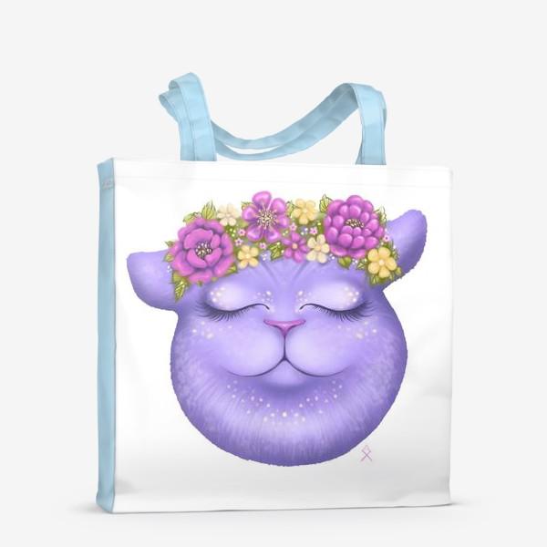 Сумка-шоппер «Мечтательная кошка »