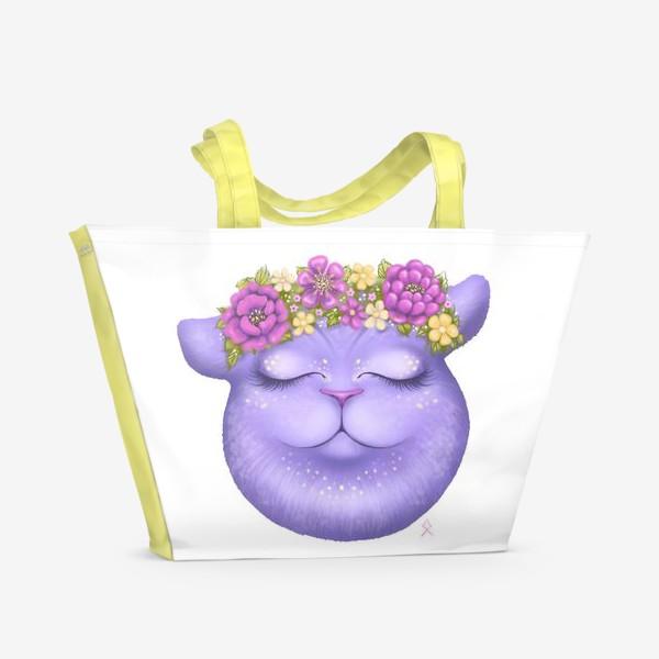 Пляжная сумка «Мечтательная кошка »
