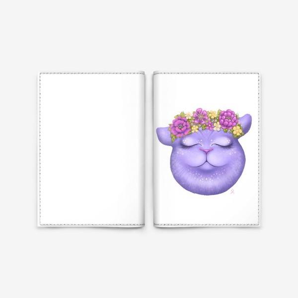 Обложка для паспорта «Мечтательная кошка »