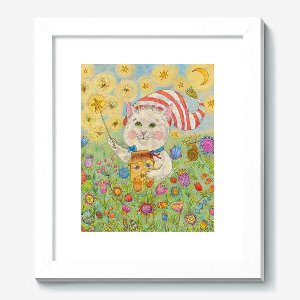 Картина «Кот волшебник в сказочном саду»