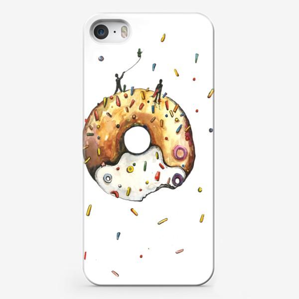 Чехол iPhone «Пончик и гравитация»
