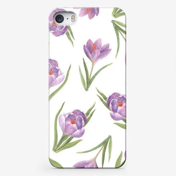 Чехол iPhone «Поле крокусов»