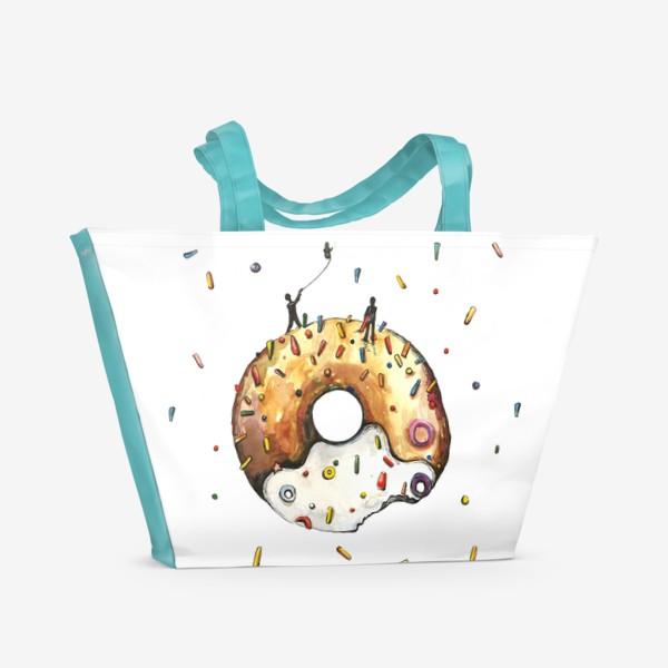 Пляжная сумка «Пончик и гравитация»