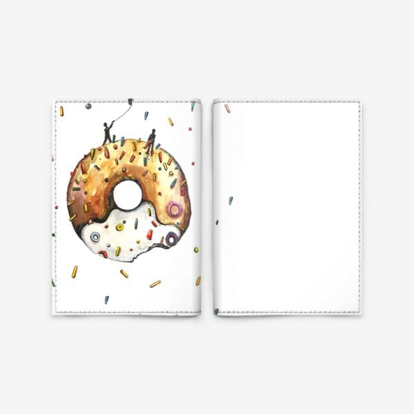 Обложка для паспорта «Пончик и гравитация»