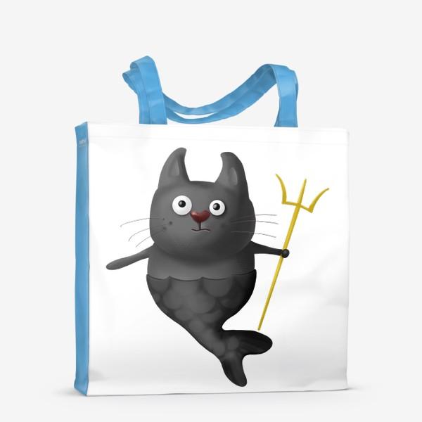 Сумка-шоппер «Кот Рыба Зевс»