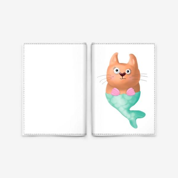 Обложка для паспорта «Кот русалка»