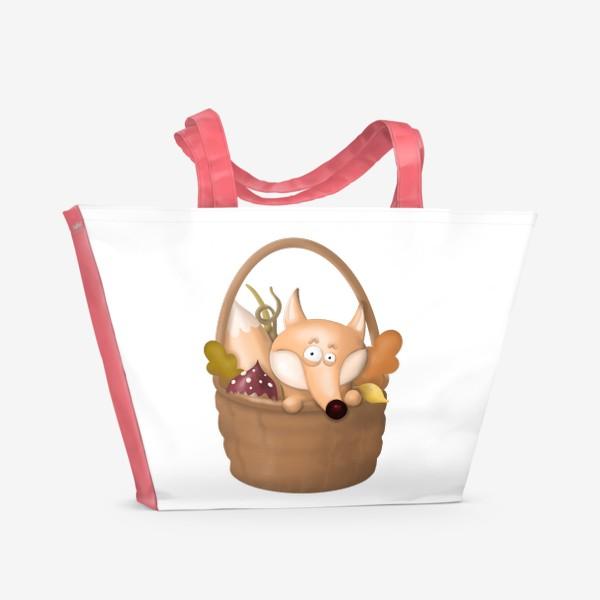 Пляжная сумка «Осенняя лиса»