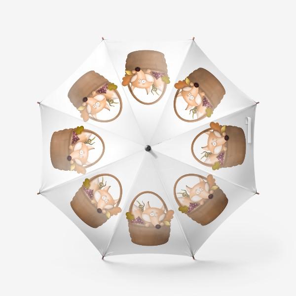 Зонт «Осенняя лиса»