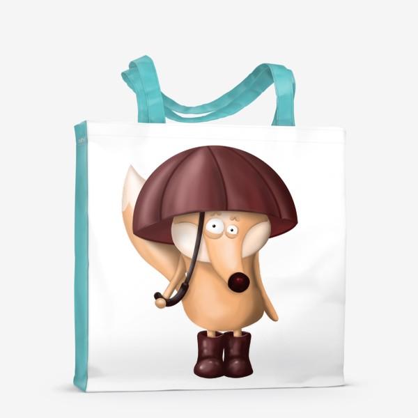 Сумка-шоппер «Лис под зонтом»