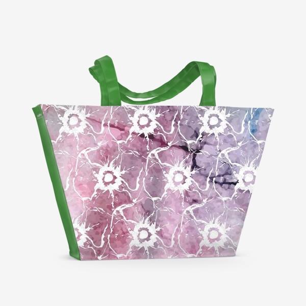 Пляжная сумка «Яркие цветы анемоны»