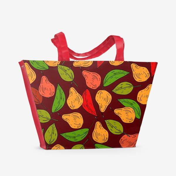 Пляжная сумка «яркие груши»