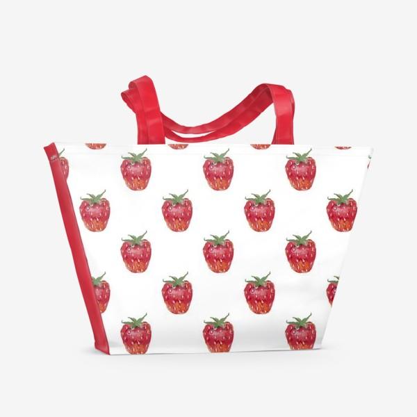 Пляжная сумка «Клубничное настроение»