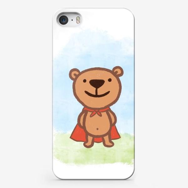 Чехол iPhone «Мишка - супергерой»