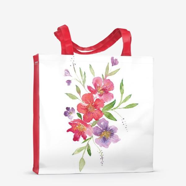 Сумка-шоппер «Букет из акварельных цветов»