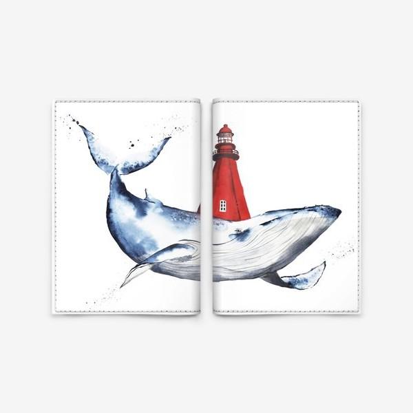 Обложка для паспорта «Кит и маяк»