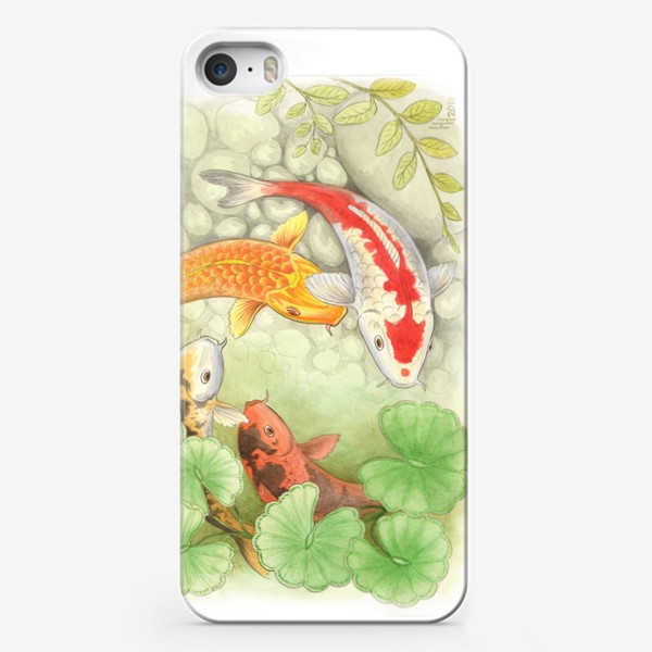 Чехол iPhone «Карпы кои»