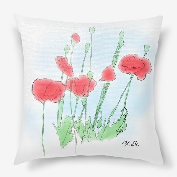 Подушка «Любимые Маки»